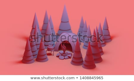 Paisagem árvores 3d render magnífico neve Foto stock © mariephoto
