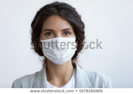 moda · mulheres · máscara · foto · backlight · flor - foto stock © lightpoet