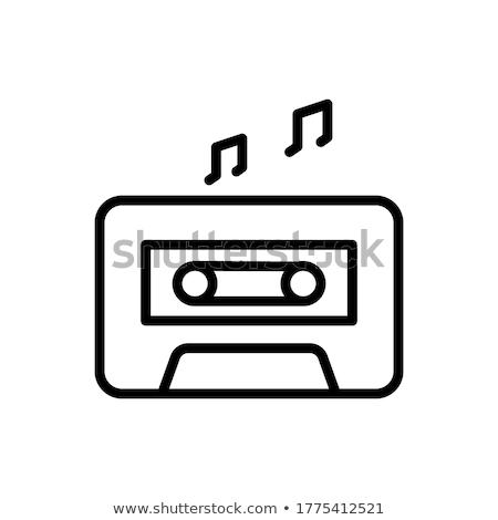 кассету лента линия икона веб мобильных Сток-фото © RAStudio