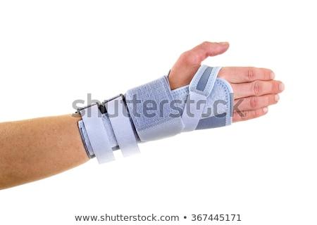 Man Wearing Supportive Wrist Brace in Studio Stock photo © belahoche