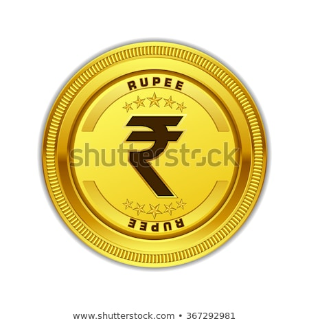 Yen valuta teken gouden munt vector icon Stockfoto © rizwanali3d