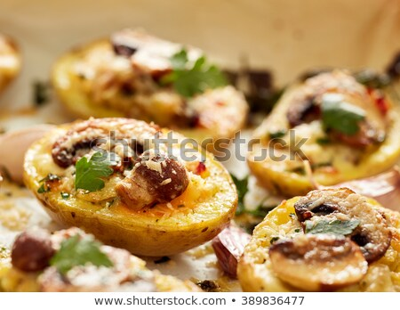 patates · sos · plaka · yemek · yemek - stok fotoğraf © makse