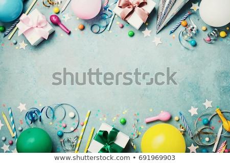 Turquoise Party Streamer Stock photo © zhekos