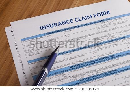 Verzekering beweren vorm papier bureau ondiep Stockfoto © elwynn