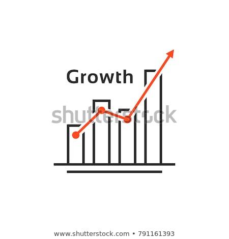 Staafdiagram lijn icon hoeken web mobiele Stockfoto © RAStudio