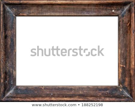öreg fából készült téglalap keret papír fa Stock fotó © Voysla