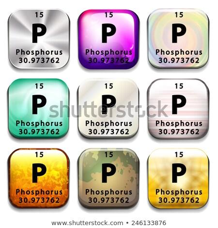 botão · elemento · lítio · branco · educação - foto stock © bluering