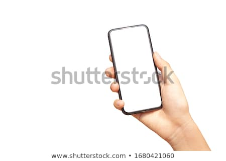 Holding cell phone Stock photo © dash