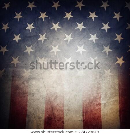 Retro amerikaanse sterren stralen USA dag Stockfoto © marinini