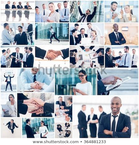 bem · sucedido · pessoas · de · negócios · real · escritório · trabalhando · negócio - foto stock © zurijeta