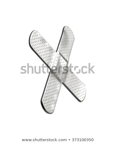 silver patch like cross Stock photo © shutswis