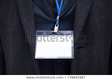 An empty nametag Stock photo © bluering