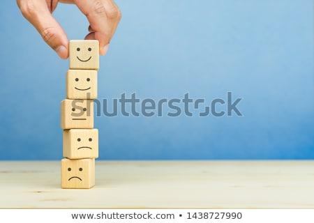 Visszajelzés felirat fa asztal óra üzlet iroda Stock fotó © fuzzbones0