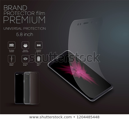 smartphone with a protection film Stock photo © magann