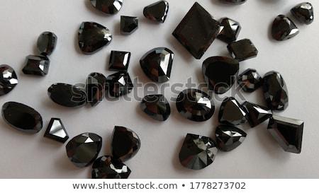 Nagy körte vág gyémánt izolált fehér Stock fotó © Arsgera
