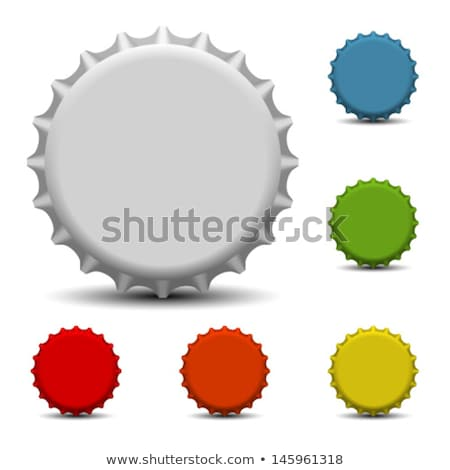 Boutons bouteilles Cola blanche fond rouge Photo stock © bluering