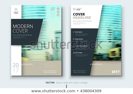 Stock photo: Abstract corporate material brochure design