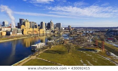 Bina Minnesota gökyüzü şehir kış güç Stok fotoğraf © pictureguy