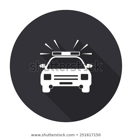 Stock fotó: Gombok · rendőrség · autók · illusztráció · fehér · autó