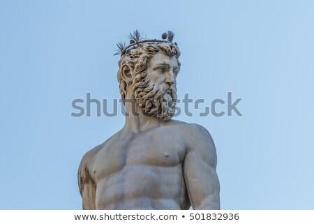Florence · szobor · szökőkút · Olaszország - stock fotó © boggy