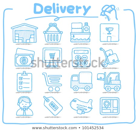 рисованной иллюстрация бизнеса синий круга Сток-фото © Vanzyst