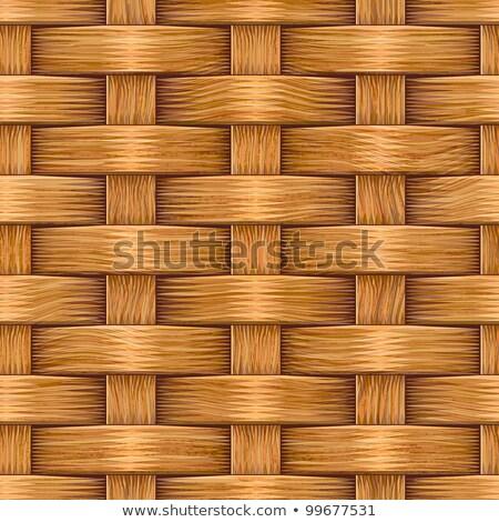 Raster Seamless Basket Wooden Weave Pattern Stock photo © CreatorsClub