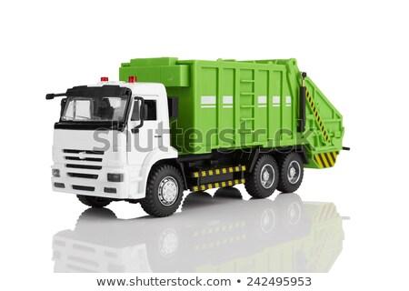 Hulladék teherautó fehér illusztráció háttér művészet Stock fotó © bluering