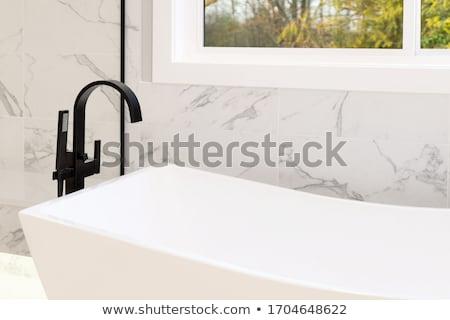 Sárgaréz vízcsap csap fényes fehér fény Stock fotó © ca2hill