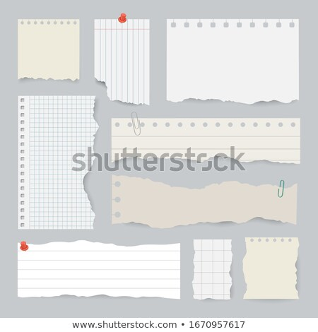 Torn notebook sheet Stock photo © day908