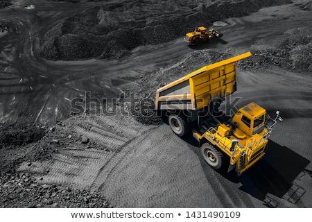 Escavação caminhão campo ilustração fundo arte Foto stock © bluering