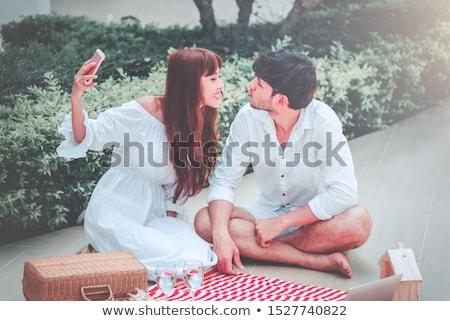joy fun teasing couple  Stock photo © vilevi