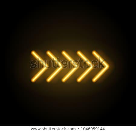 Blue neon arrow Stock photo © orson