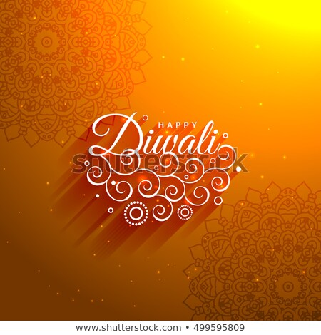 Klassz narancs boldog diwali művészi mandala Stock fotó © SArts