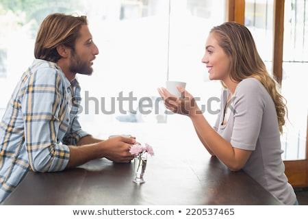 alegre · casal · sessão · manhã · mulher · amor - foto stock © deandrobot