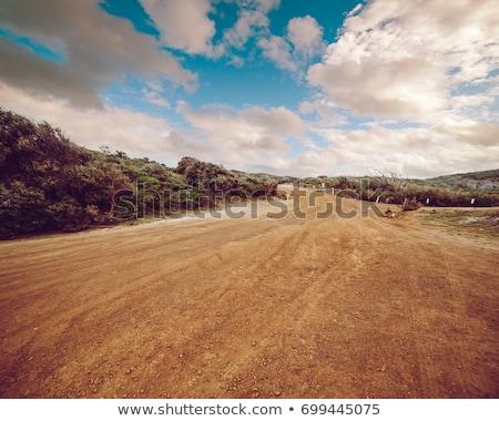Lamacento estrada de terra pneu carro caminhão sujeira Foto stock © Juhku