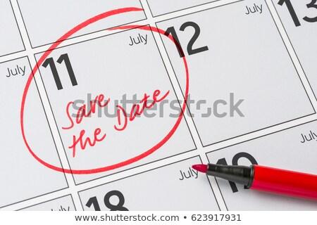 ritardare · calendario · calendario · data · appuntamento · riunione - foto d'archivio © zerbor
