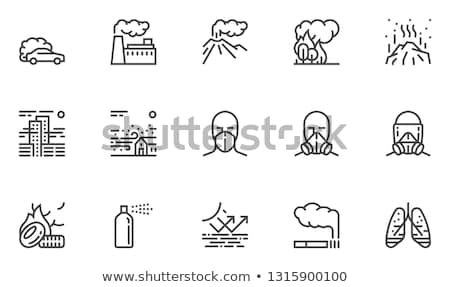 oil contamination line icon stock photo © rastudio