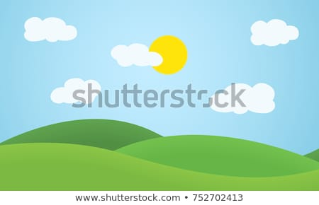 valley in the mountains under the blue sky with clouds stock photo © all32