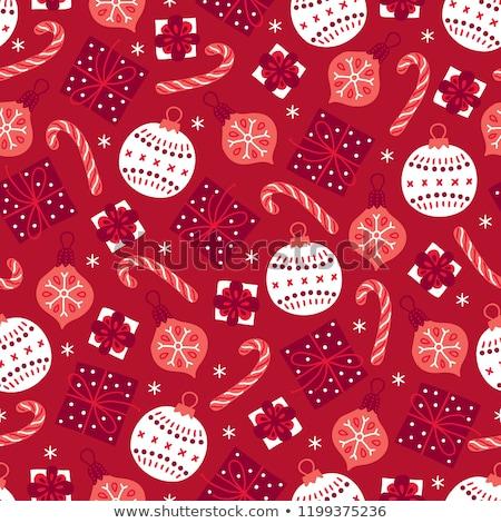 Sem costura natal vermelho padrão flocos de neve Foto stock © SwillSkill