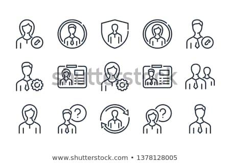техническая · поддержка · икона · дизайна · служба · лице · интернет - Сток-фото © wad