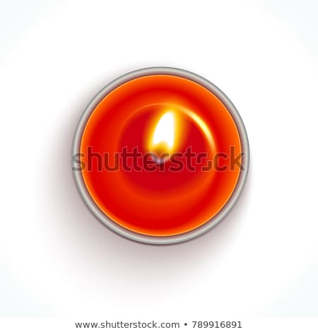 Candlesticks with red candle on the table stock photo © tekso