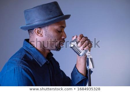 Portret mężczyzna piosenkarka nightclub festiwal muzyczny Zdjęcia stock © wavebreak_media