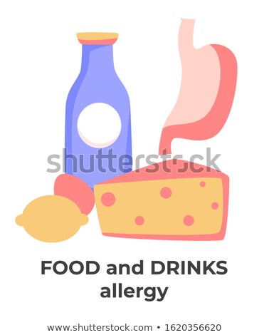 Milk and Cheese as nutrients or allergens Stock photo © klsbear