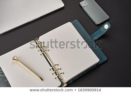 黒 日記 グレー ペン 紙 個人 ストックフォト © vtls
