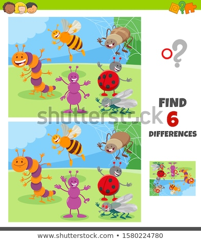 Spot the difference ladybug Stock photo © Olena