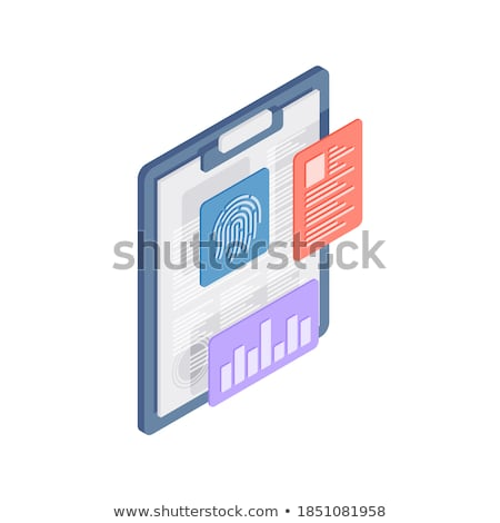 Clipboard with Database System Concept. 3D. Stock photo © tashatuvango