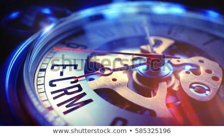 Eladó terv felirat klasszikus zseb óra Stock fotó © tashatuvango