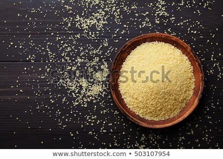 Piatto greggio couscous bianco legno alimentare Foto d'archivio © Digifoodstock