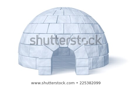 Eskimo in front of an igloo Stock photo © Ustofre9