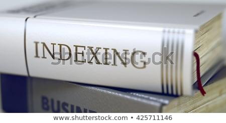 Indexing Concept. Book Title. Stock photo © tashatuvango